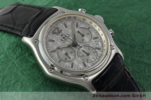Used luxury watch Ebel 1911 chronograph steel automatic Kal. 137 Ref. 9137240  | 150639 13
