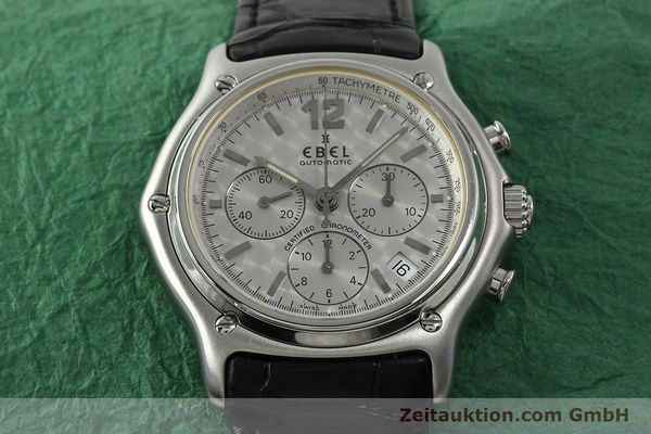 Used luxury watch Ebel 1911 chronograph steel automatic Kal. 137 Ref. 9137240  | 150639 14