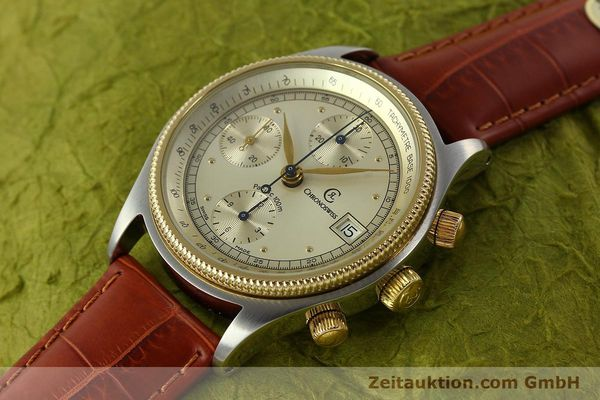 Used luxury watch Chronoswiss Pacific chronograph steel / gold automatic Kal. 7414 VAL 7750  | 150647 01