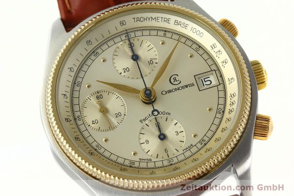 Used luxury watch Chronoswiss Pacific chronograph steel / gold automatic Kal. 7414 VAL 7750  | 150647 02