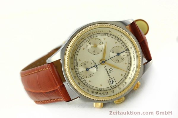 Used luxury watch Chronoswiss Pacific chronograph steel / gold automatic Kal. 7414 VAL 7750  | 150647 03