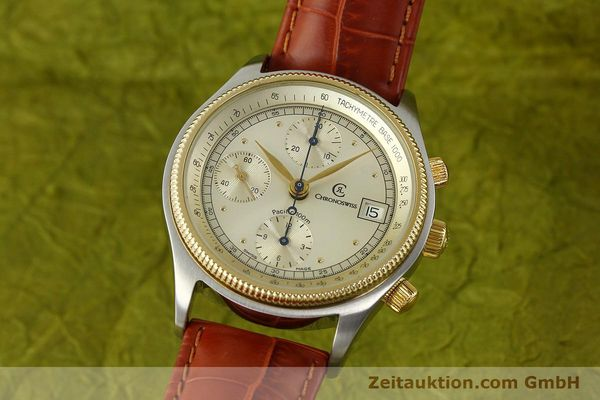 Used luxury watch Chronoswiss Pacific chronograph steel / gold automatic Kal. 7414 VAL 7750  | 150647 04