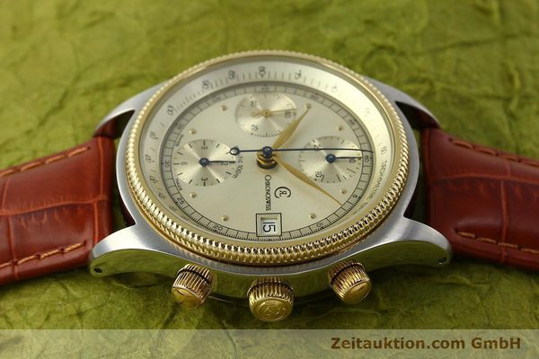 Used luxury watch Chronoswiss Pacific chronograph steel / gold automatic Kal. 7414 VAL 7750  | 150647 05
