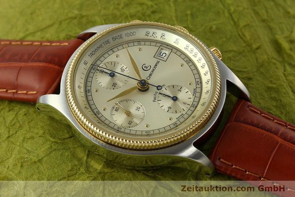 Used luxury watch Chronoswiss Pacific chronograph steel / gold automatic Kal. 7414 VAL 7750  | 150647 13