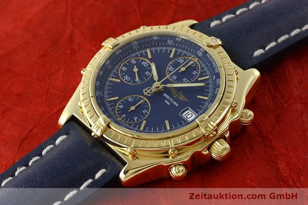 Used luxury watch Breitling Chronomat chronograph 18 ct gold automatic Kal. B13 C.1 ETA 7750 Ref. K13050.1  | 150648 01