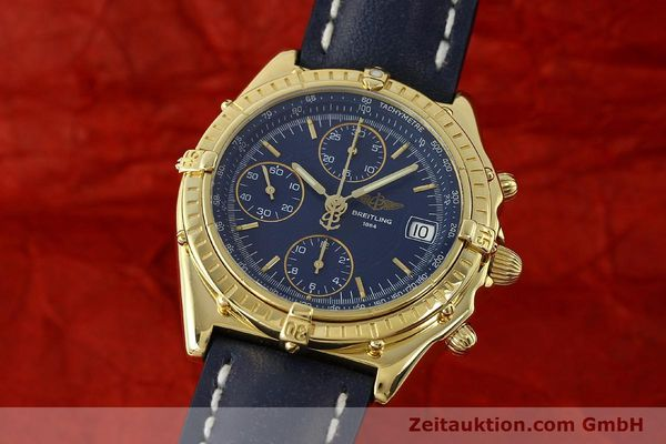 Used luxury watch Breitling Chronomat chronograph 18 ct gold automatic Kal. B13 C.1 ETA 7750 Ref. K13050.1  | 150648 04