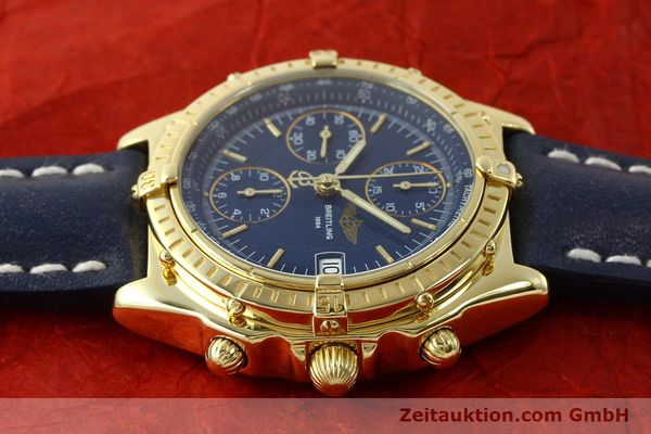 Used luxury watch Breitling Chronomat chronograph 18 ct gold automatic Kal. B13 C.1 ETA 7750 Ref. K13050.1  | 150648 05