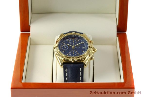 Used luxury watch Breitling Chronomat chronograph 18 ct gold automatic Kal. B13 C.1 ETA 7750 Ref. K13050.1  | 150648 07