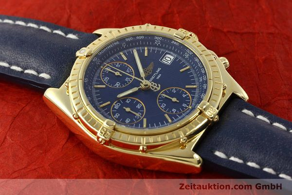 Used luxury watch Breitling Chronomat chronograph 18 ct gold automatic Kal. B13 C.1 ETA 7750 Ref. K13050.1  | 150648 14