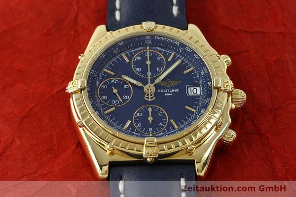 Used luxury watch Breitling Chronomat chronograph 18 ct gold automatic Kal. B13 C.1 ETA 7750 Ref. K13050.1  | 150648 15