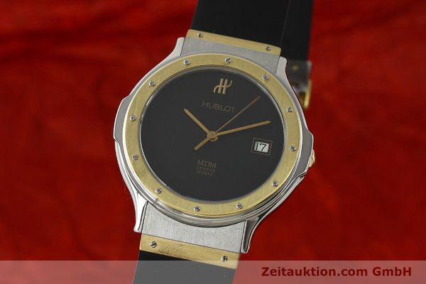 Used luxury watch Hublot MDM steel / gold quartz Kal. ETA 955411 Ref. S152102  | 150650 04