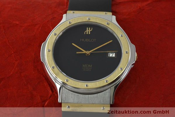 Used luxury watch Hublot MDM steel / gold quartz Kal. ETA 955411 Ref. S152102  | 150650 13