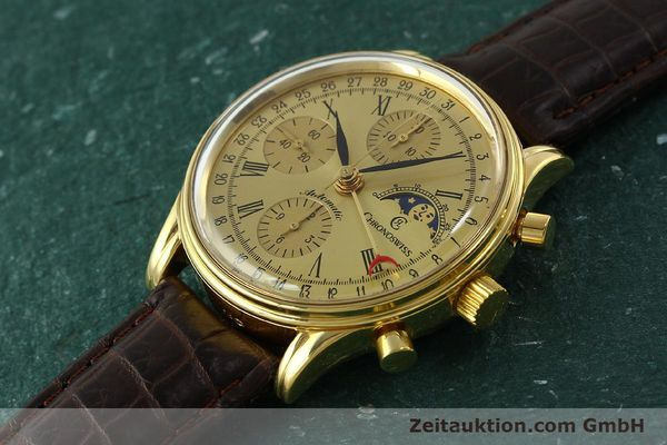 Used luxury watch Chronoswiss A. Rochat chronograph gold-plated automatic Kal. ETA 7750 Ref. 77990  | 150659 01