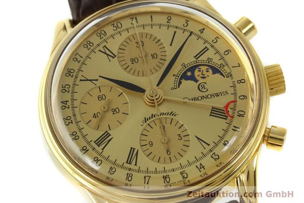 Used luxury watch Chronoswiss A. Rochat chronograph gold-plated automatic Kal. ETA 7750 Ref. 77990  | 150659 02