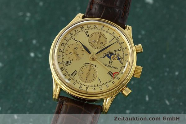 Used luxury watch Chronoswiss A. Rochat chronograph gold-plated automatic Kal. ETA 7750 Ref. 77990  | 150659 04