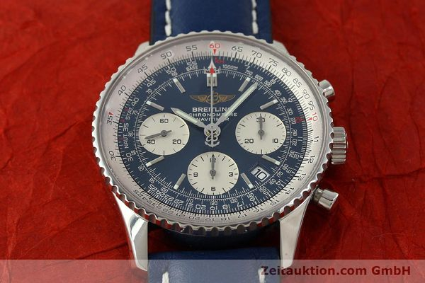 Used luxury watch Breitling Navitimer chronograph steel automatic Kal. B23 ETA 7753 Ref. A23322  | 150675 13