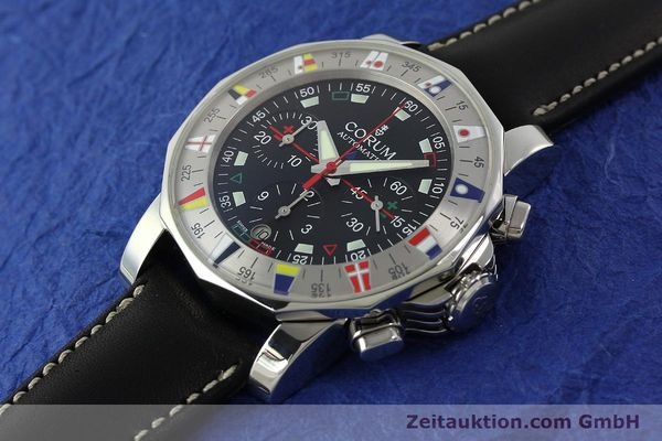 Used luxury watch Corum Admirals Cup chronograph steel automatic Kal. ETA 2892A2 Ref. 285.630.20  | 150676 01