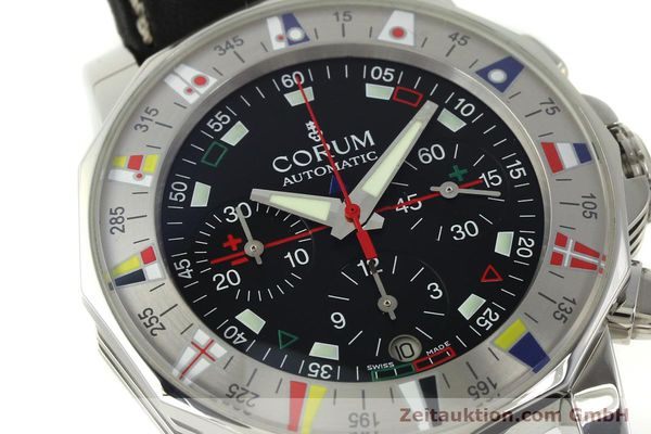 Used luxury watch Corum Admirals Cup chronograph steel automatic Kal. ETA 2892A2 Ref. 285.630.20  | 150676 02
