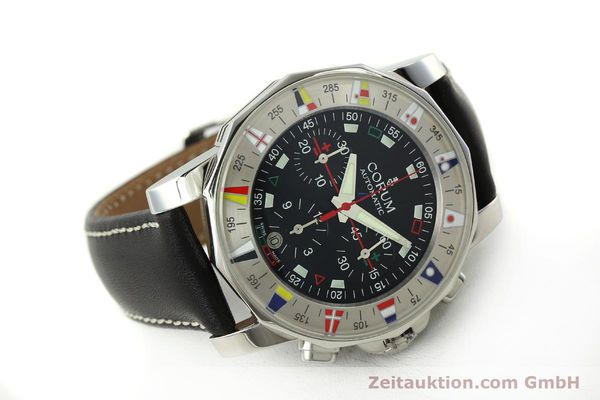 Used luxury watch Corum Admirals Cup chronograph steel automatic Kal. ETA 2892A2 Ref. 285.630.20  | 150676 03