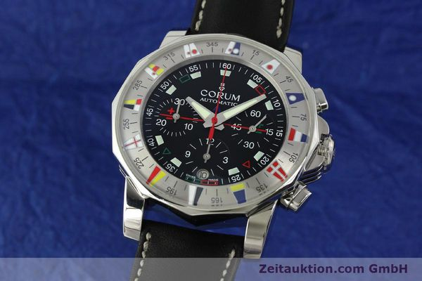 Used luxury watch Corum Admirals Cup chronograph steel automatic Kal. ETA 2892A2 Ref. 285.630.20  | 150676 04