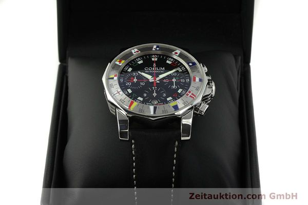 Used luxury watch Corum Admirals Cup chronograph steel automatic Kal. ETA 2892A2 Ref. 285.630.20  | 150676 07