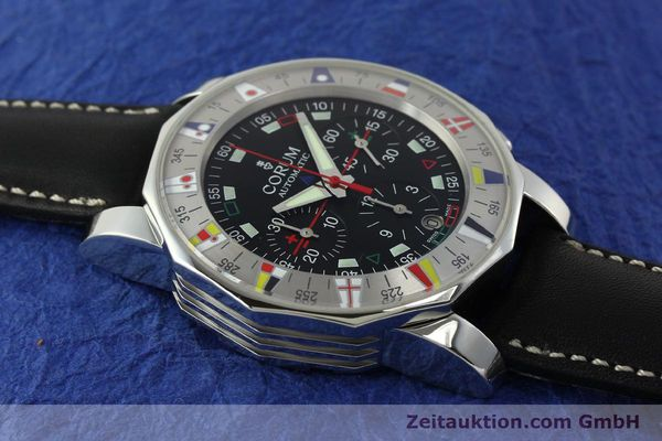 Used luxury watch Corum Admirals Cup chronograph steel automatic Kal. ETA 2892A2 Ref. 285.630.20  | 150676 13