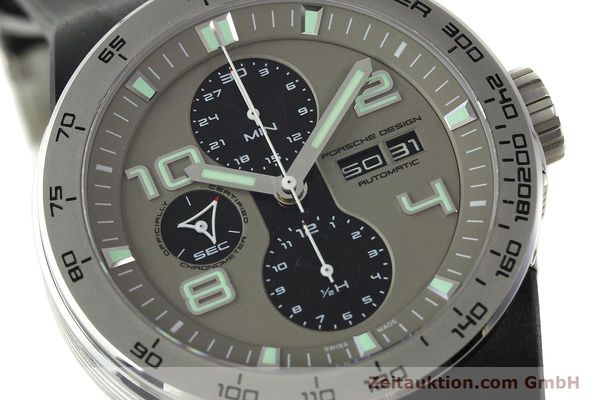 Used luxury watch Porsche Design Flat Six chronograph steel automatic Kal. ETA 7750 Ref. P6340  | 150688 02