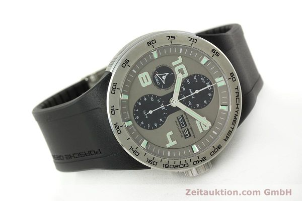 Used luxury watch Porsche Design Flat Six chronograph steel automatic Kal. ETA 7750 Ref. P6340  | 150688 03