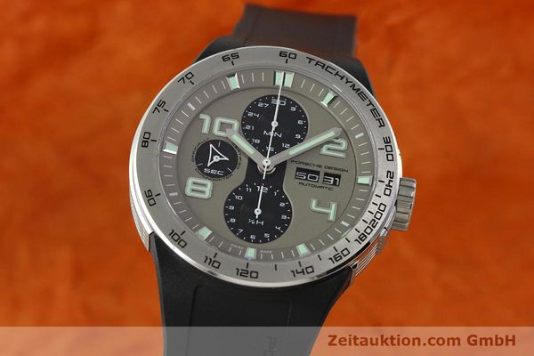 Used luxury watch Porsche Design Flat Six chronograph steel automatic Kal. ETA 7750 Ref. P6340  | 150688 04