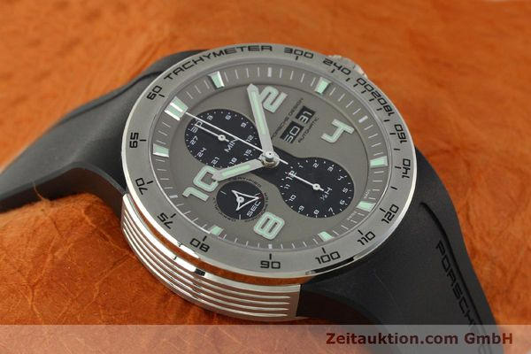 Used luxury watch Porsche Design Flat Six chronograph steel automatic Kal. ETA 7750 Ref. P6340  | 150688 15