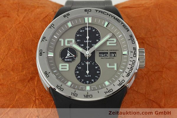 Used luxury watch Porsche Design Flat Six chronograph steel automatic Kal. ETA 7750 Ref. P6340  | 150688 16