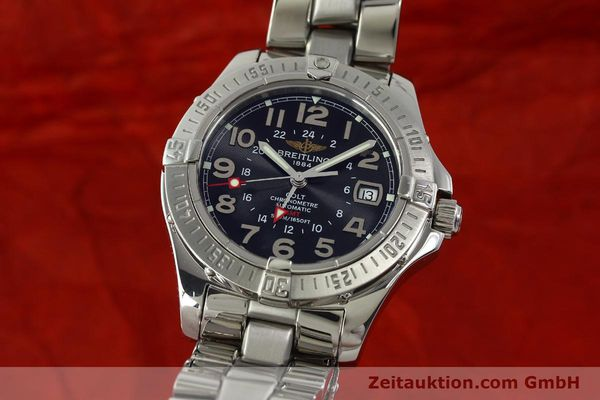 Used luxury watch Breitling Colt GMT steel automatic Kal. B32 ETA 2893-2 Ref. A32350  | 150701 04