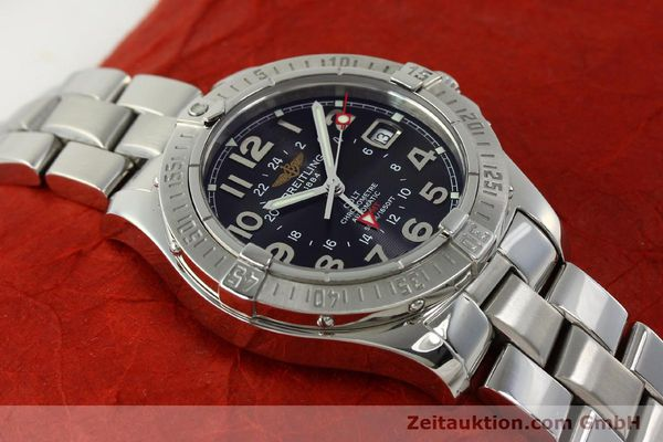 Used luxury watch Breitling Colt GMT steel automatic Kal. B32 ETA 2893-2 Ref. A32350  | 150701 16