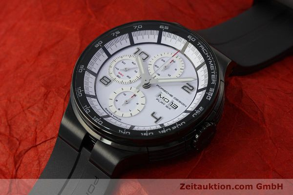 Used luxury watch Porsche Design Flat Six chronograph steel automatic Kal. ETA 7750 Ref. 6360.43  | 150702 01