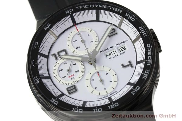 Used luxury watch Porsche Design Flat Six chronograph steel automatic Kal. ETA 7750 Ref. 6360.43  | 150702 02