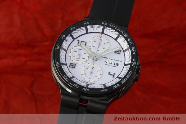 Used luxury watch Porsche Design Flat Six chronograph steel automatic Kal. ETA 7750 Ref. 6360.43  | 150702 04