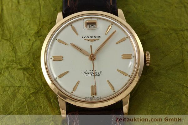 Used luxury watch Longines Conquest 18 ct gold automatic Kal. 291  | 150706 15