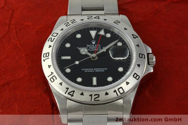 Used luxury watch Rolex Explorer II steel automatic Kal. 3185 Ref. 16570  | 150708 17