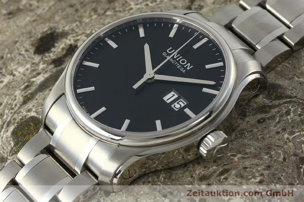 Used luxury watch Union Glashütte Belisar steel automatic Kal. U2896 ETA 2896 Ref. D002.426A  | 150714 01