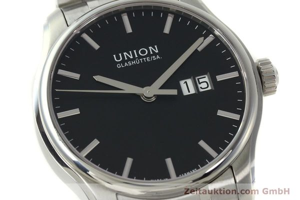 Used luxury watch Union Glashütte Belisar steel automatic Kal. U2896 ETA 2896 Ref. D002.426A  | 150714 02