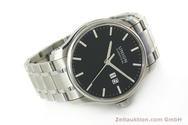 Used luxury watch Union Glashütte Belisar steel automatic Kal. U2896 ETA 2896 Ref. D002.426A  | 150714 03