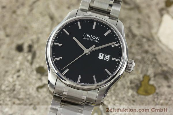 Used luxury watch Union Glashütte Belisar steel automatic Kal. U2896 ETA 2896 Ref. D002.426A  | 150714 04