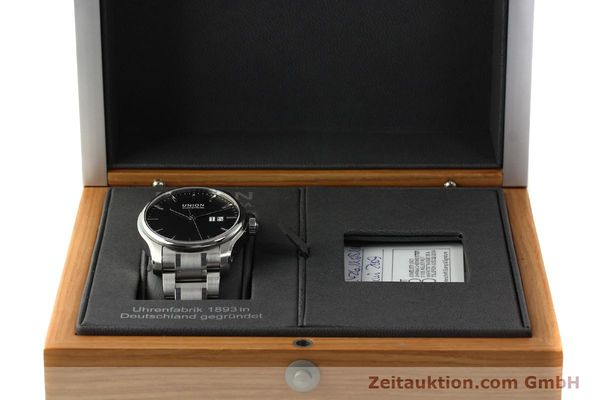 Used luxury watch Union Glashütte Belisar steel automatic Kal. U2896 ETA 2896 Ref. D002.426A  | 150714 07