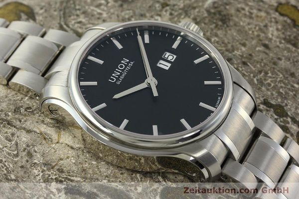 Used luxury watch Union Glashütte Belisar steel automatic Kal. U2896 ETA 2896 Ref. D002.426A  | 150714 14