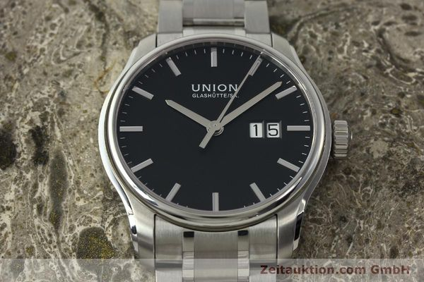 Used luxury watch Union Glashütte Belisar steel automatic Kal. U2896 ETA 2896 Ref. D002.426A  | 150714 15