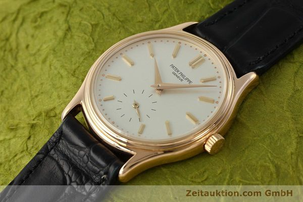 Used luxury watch Patek Philippe Calatrava 18 ct red gold manual winding Kal. 215 Ref. 3923  | 150718 01