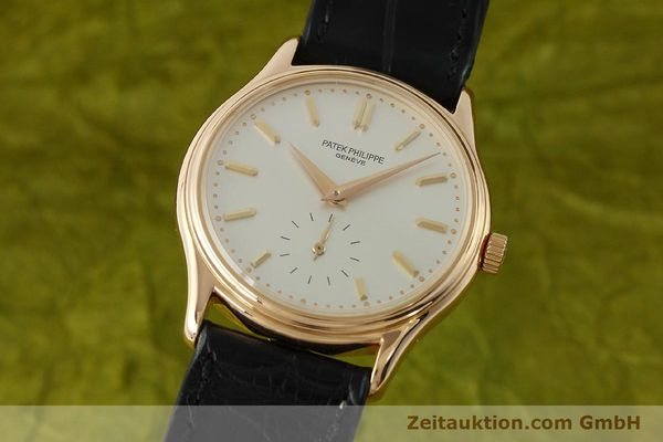 Used luxury watch Patek Philippe Calatrava 18 ct red gold manual winding Kal. 215 Ref. 3923  | 150718 04