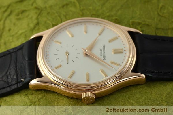 Used luxury watch Patek Philippe Calatrava 18 ct red gold manual winding Kal. 215 Ref. 3923  | 150718 05