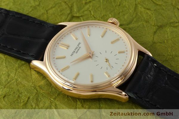 Used luxury watch Patek Philippe Calatrava 18 ct red gold manual winding Kal. 215 Ref. 3923  | 150718 14