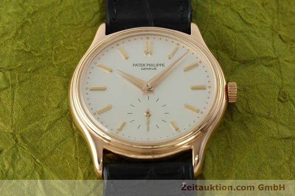 Used luxury watch Patek Philippe Calatrava 18 ct red gold manual winding Kal. 215 Ref. 3923  | 150718 15